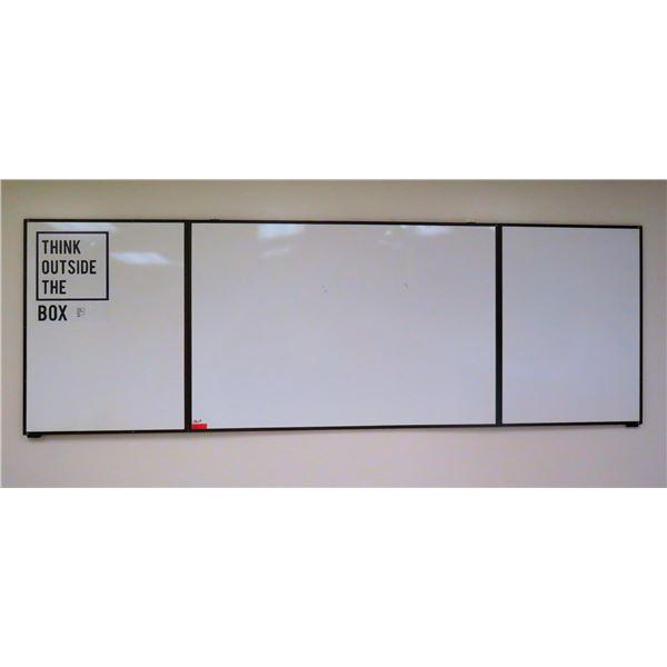 "Long 3 Section Fold-In White Board 148""x48"""
