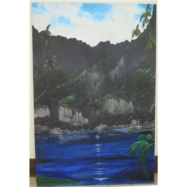 "Large Landscape Painting on Canvas 24""x36"""