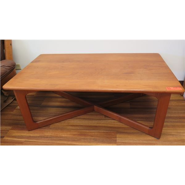 """K.D. Furniture Rectangle Wooden Coffee Table w/ Crossed Legs 47""""x27""""x18""""H"""