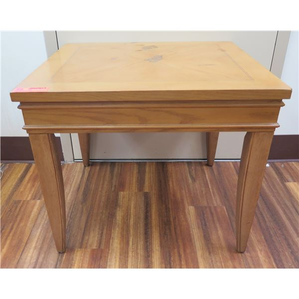 """Square Wooden Side Table 27""""x29""""x23""""H"""