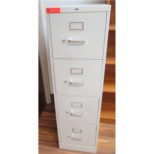 HON Metal 4 Drawer File Cabinet