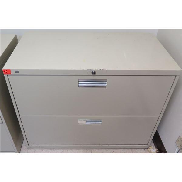 HON Metal 2-Drawer Lateral File Cabinet
