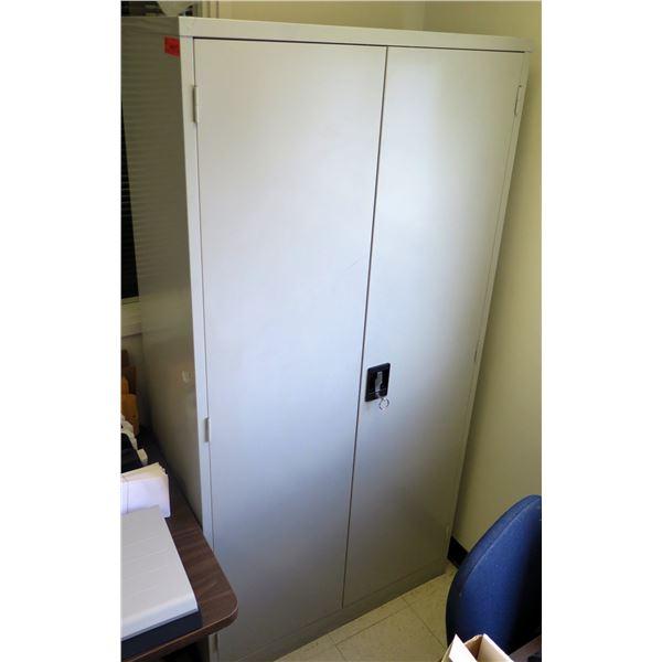 """Metal 2 Door Storage Cabinet w/ 2 Shelves 36""""x18""""x72""""H"""