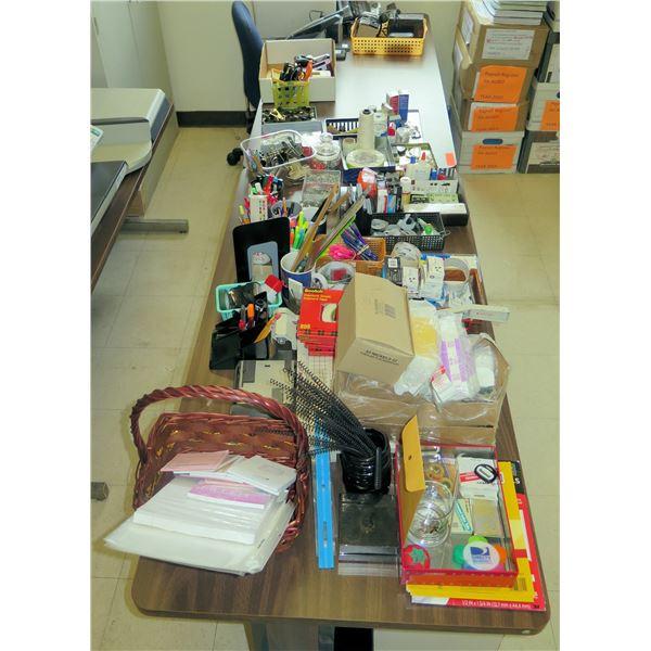 Office Supplies: Organizers, Tape, Label Makers, Pens, Paper Cutter, Scissors, etc
