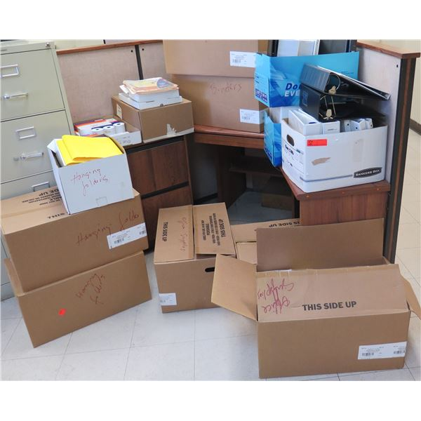 Office Supplies: Legal Pads, File Folders & Tabs, Correction Tape, Pens, Binders, etc
