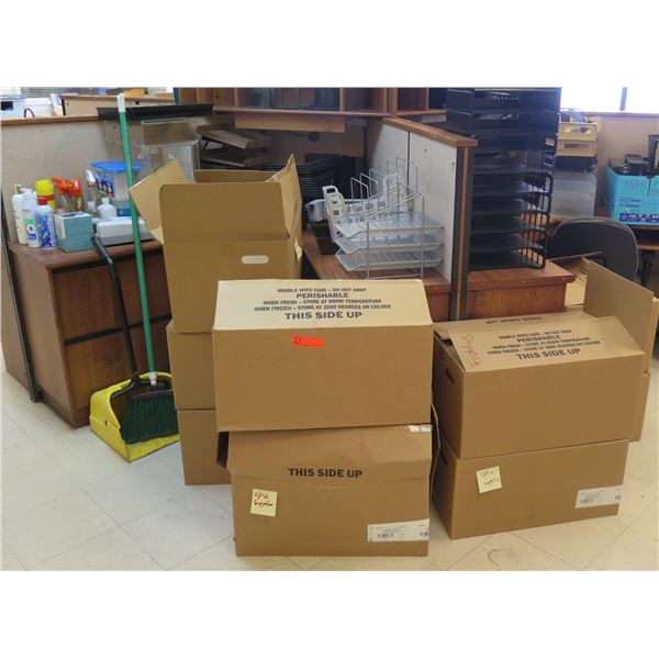Office & Cleaning Supplies: Cash Drawer, File Dividers, Envelopes, Labels etc