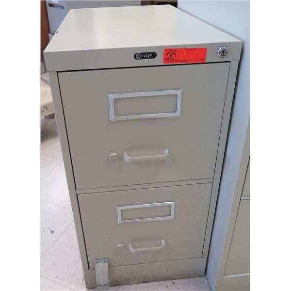Global Metal 2-Drawer File Cabinet