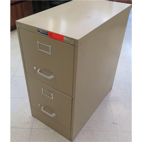 Century Metal 2-Drawer File Cabinet