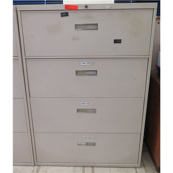 Steelcase Metal 4-Drawer Lateral File Cabinet