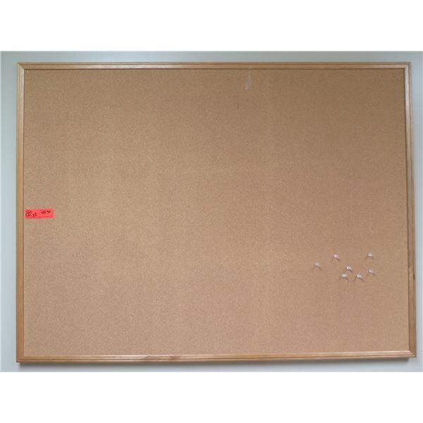"Qty 2 Boone Framed Corkboards 48""x36"""