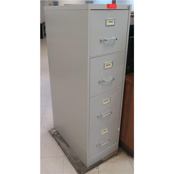Metal 4-Drawer File Cabinet