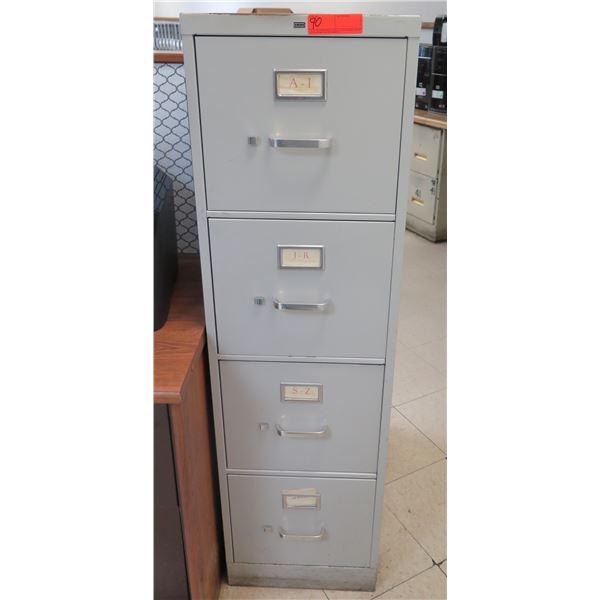 HON Metal 4-Drawer File Cabinet