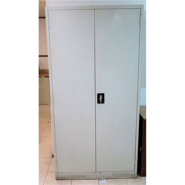 """Metal 2-Door Storage Cabinet w/ 4 Interior Shelves 36""""x18""""x72""""H"""
