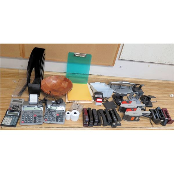 Office Supplies: Calculators, Staplers, Clipboards, Tape Dispensers, Hole Punch, etc