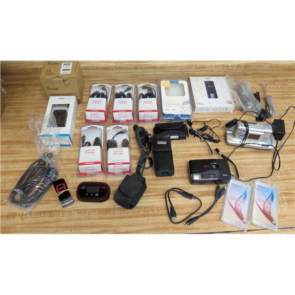 Multiple Wall & Vehicle Chargers, Verizon USB  Modem, Kodak Cameras, Cables, etc