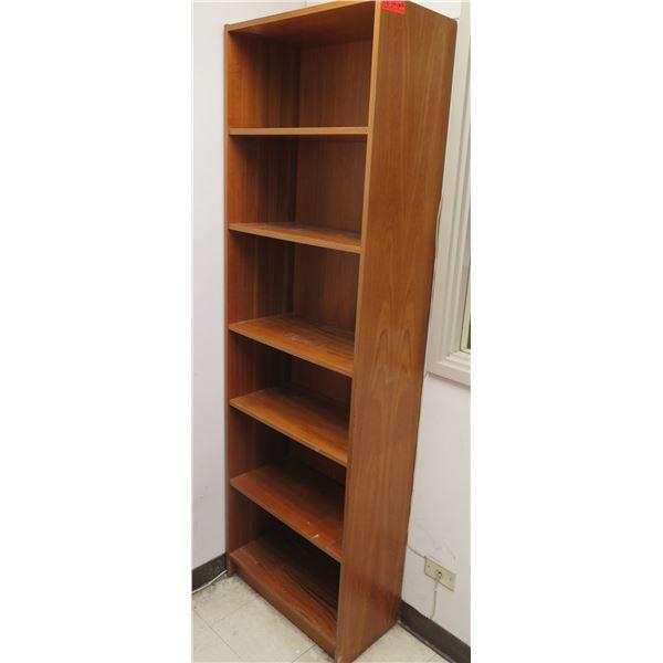 """Wooden 6-Tier Bookcase Shelf 24""""x13""""x76""""H"""