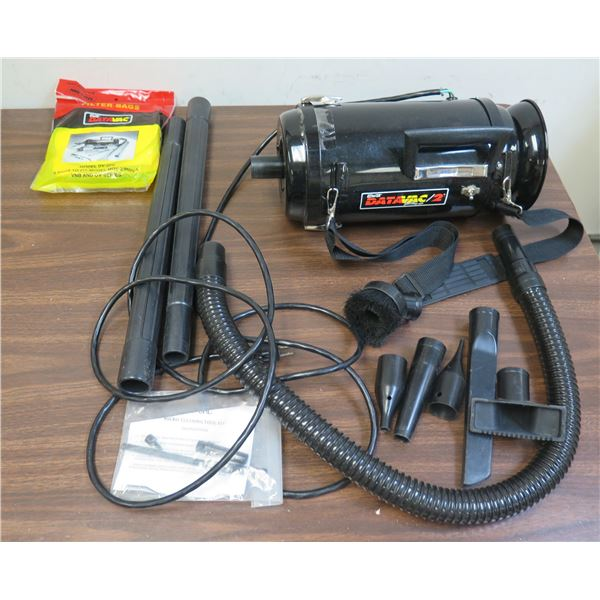 Metro DataVac/2 Anti-Static Canister Handheld Vacuum MDV-2 w/ Attachments & Bags