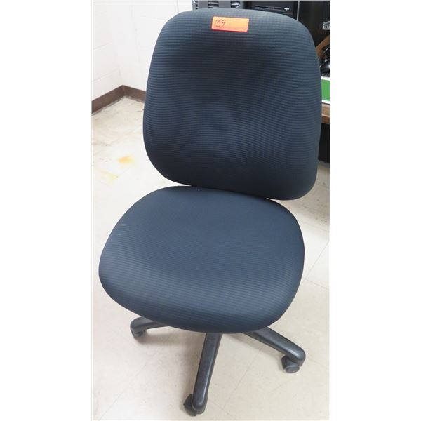 Rolling Upholstered Adjustable Office Chair
