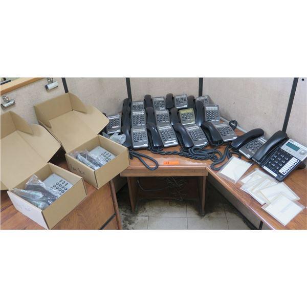 Multiple NEC DTR-1-1 Display Office Phones & 2-Line Speakerphone