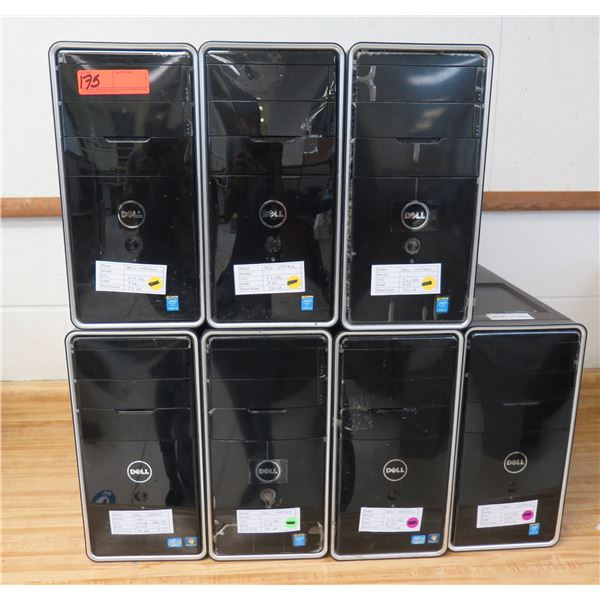 Qty 7 Dell Inspiron Tower Computers