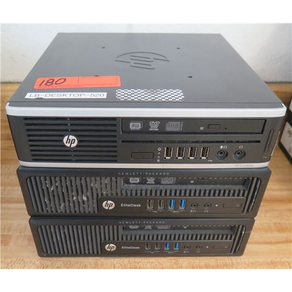 Qty 2 HP EliteDesk Elite 800 G1 & 8300 Ultra Slim Computer Processors