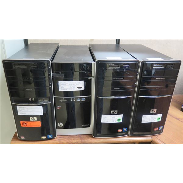 Qty 3 HP Pavilion & 6000 Series Tower Computers