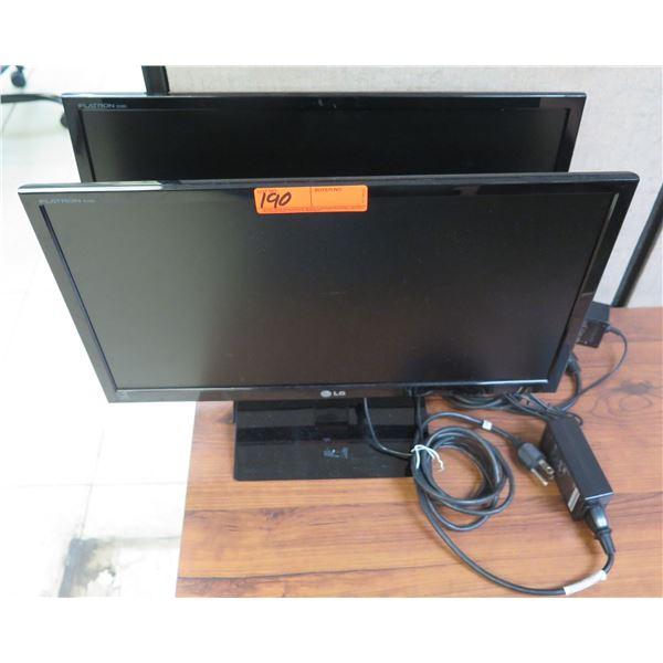 Qty 2 LG Flatrom E2060T-PN Flat Screen Monitors