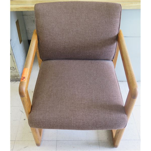 Wooden Upholstered Reception Chair