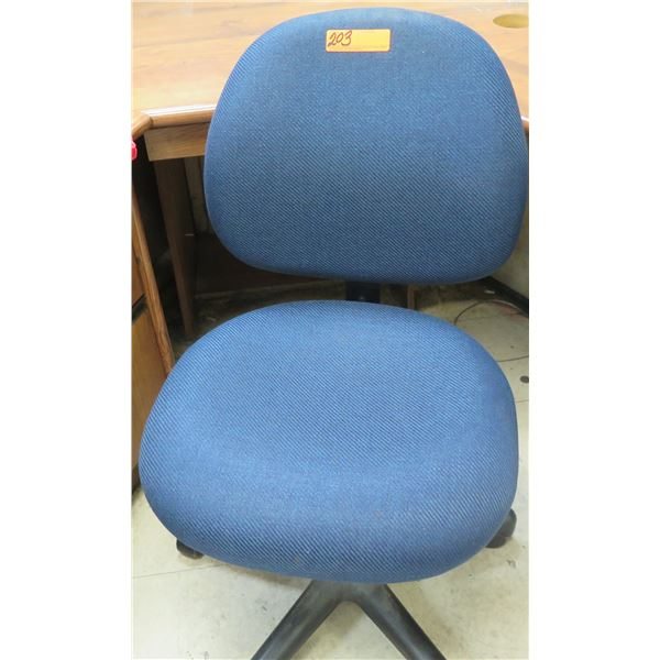 Blue Rolling Office Chair