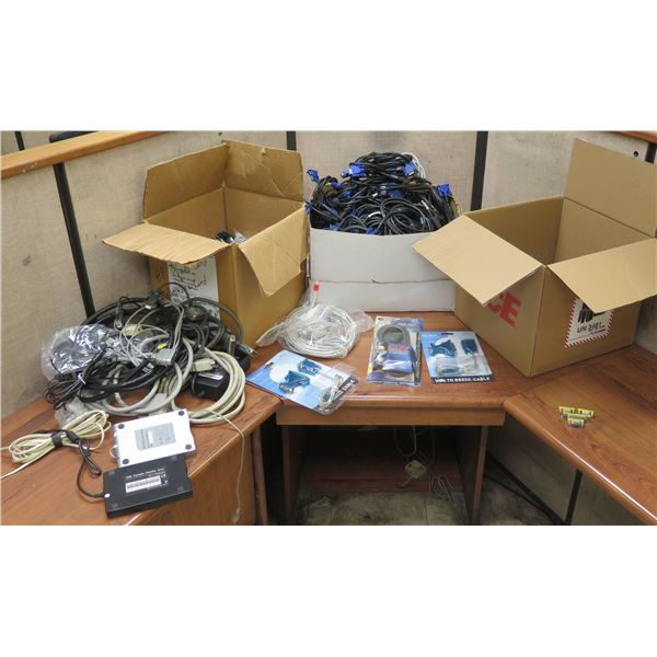 Multiple USB Portable Drives, Microtransceivers, Cables & Printer Cords, Phone Cords, etc