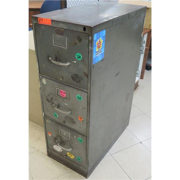 Metal 3-Drawer File Cabinet