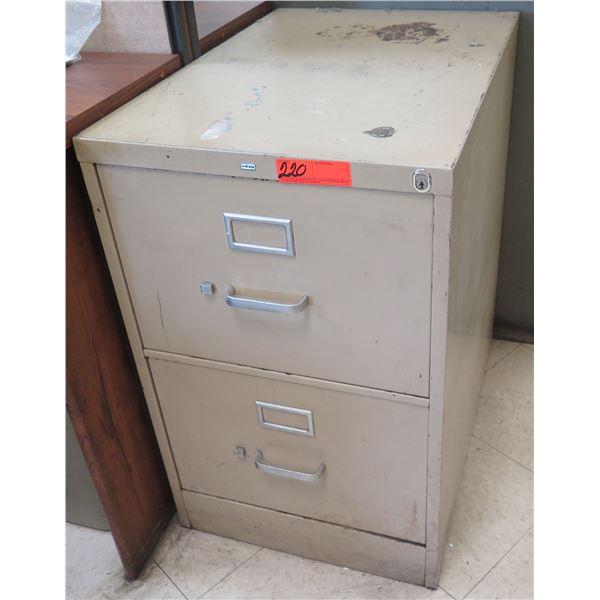 HON Metal 2-Drawer File Cabinet