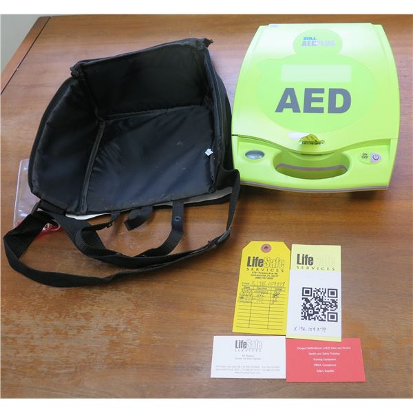 AED Zoll AED+Plus Defibrillator Package w/ Carry Case & Certifications