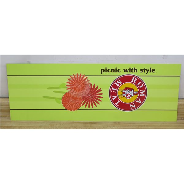 """Roman Meal Picnic with Style Sign 33""""x12"""""""