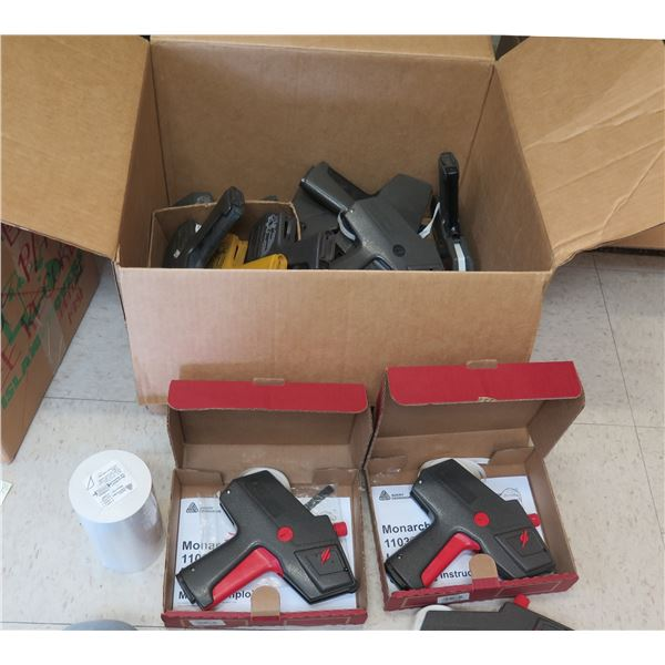 Multiple Monarch 1103-1110 Label Gun & Avery Dennison Micro Well Ink Rollers