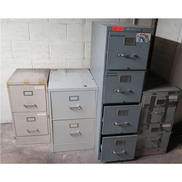 Qty 4 Metal File Cabinets