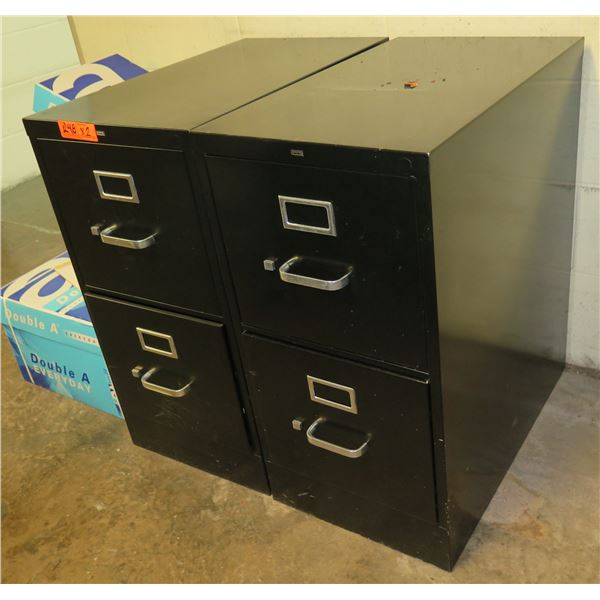 Qty 2 HON Metal 2-Drawer File Cabinets