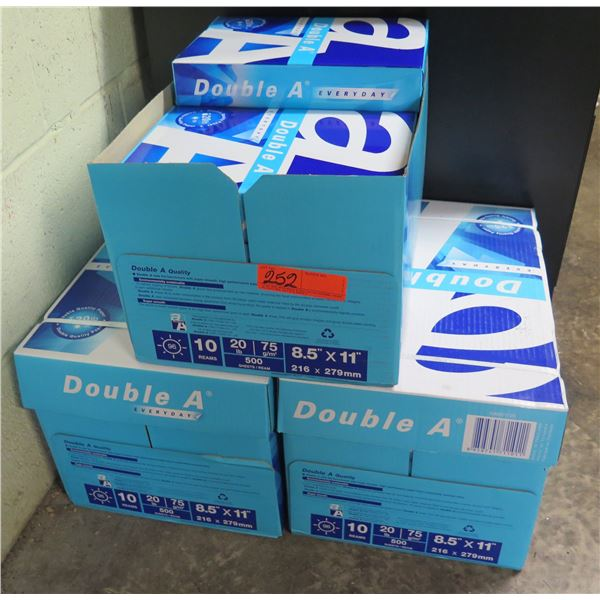 """Qty 3 Boxes Double A Everyday Copy Paper 8.5""""x11"""""""
