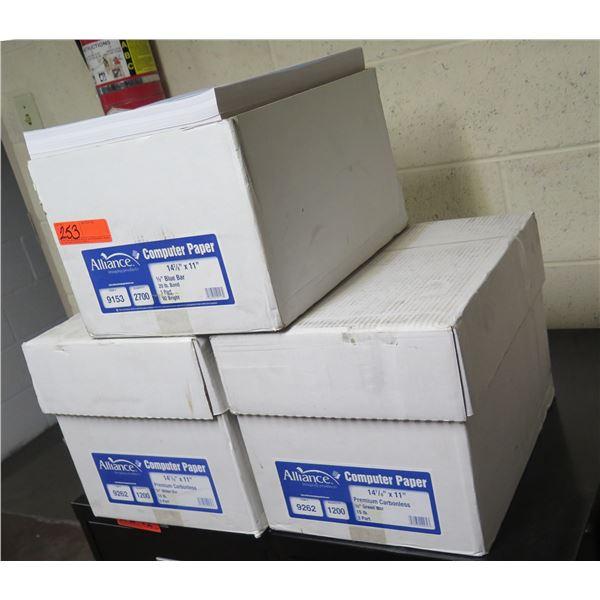 """Qty 3 Boxes Alliance Computer Paper Premium Carbonless 14-7/8""""x11"""""""