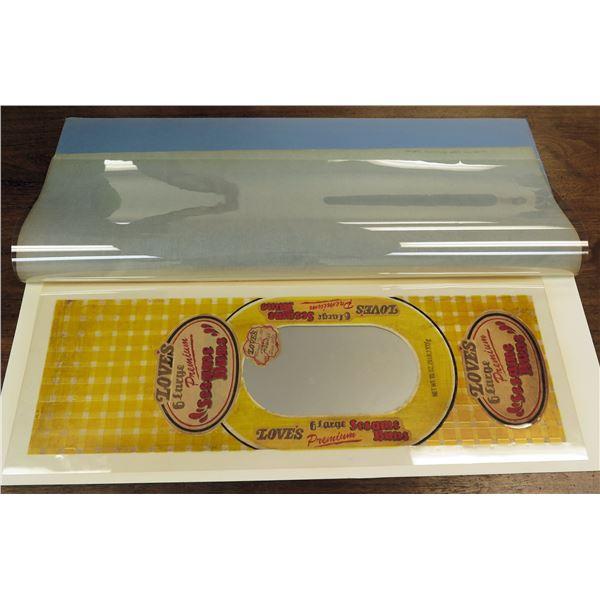 "Love's Bakery 'Premium Sesame Buns' Packaging Prototype 26""L"