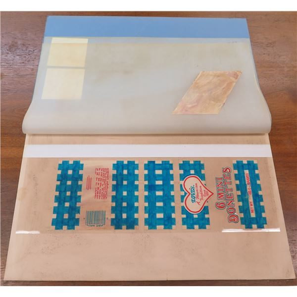 "Love's Bakery 'Mini Donettes' Packaging Prototype 18""L"