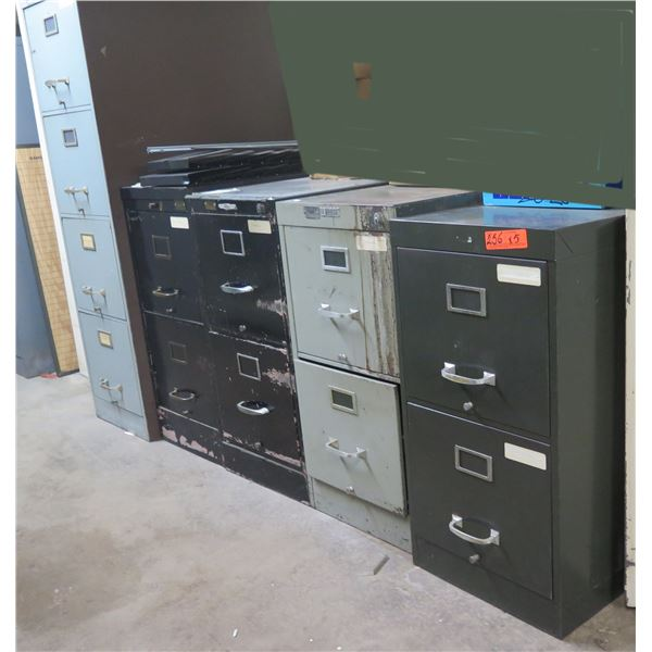 Qty 4 Metal File Cabinets: Fortress, Yawmasters, Steelmaster