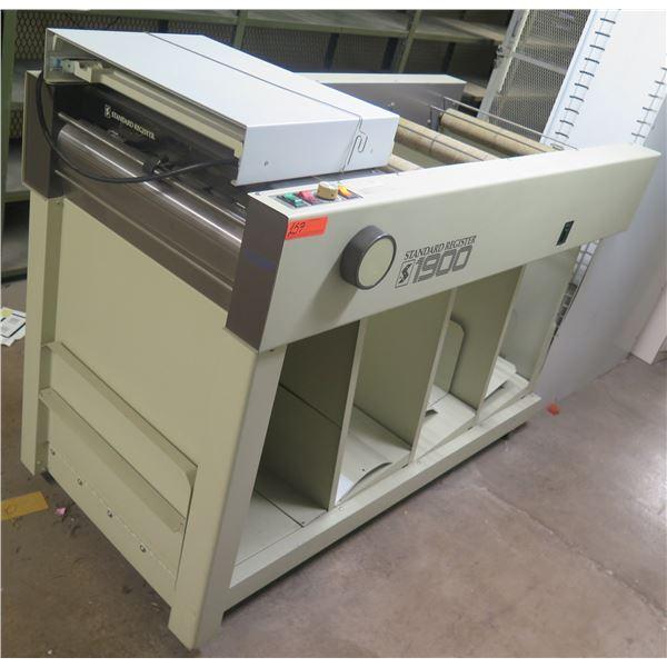 Standard Register 1900 MICR Check Decolator Machine