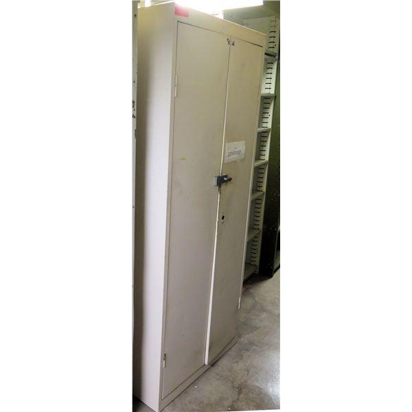 """Metal 2-Door Cabinet w/ 5 Interior Shelves 30""""x18""""x72""""H"""