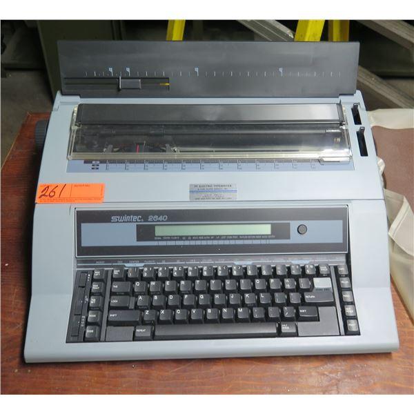 Swintec 2840 Electronic Display Typewriter  w/ Cover
