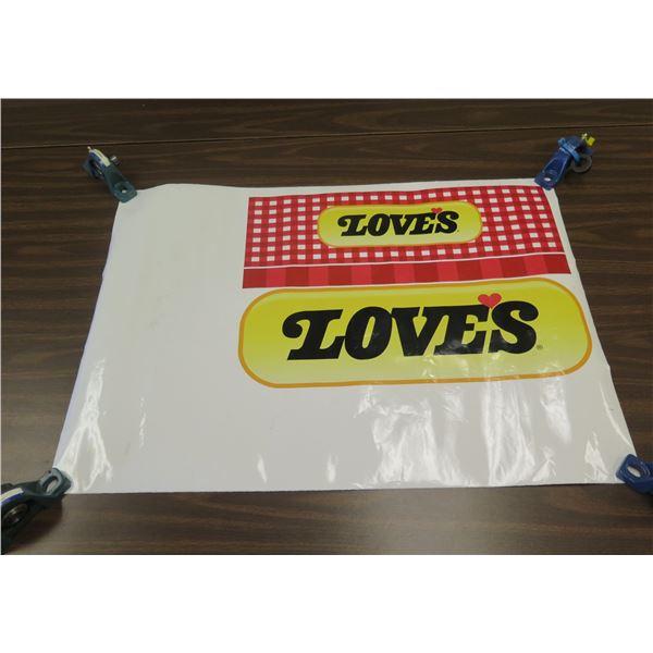 """Love's Bakery Logo Bread Packaging Prototype 29""""L"""
