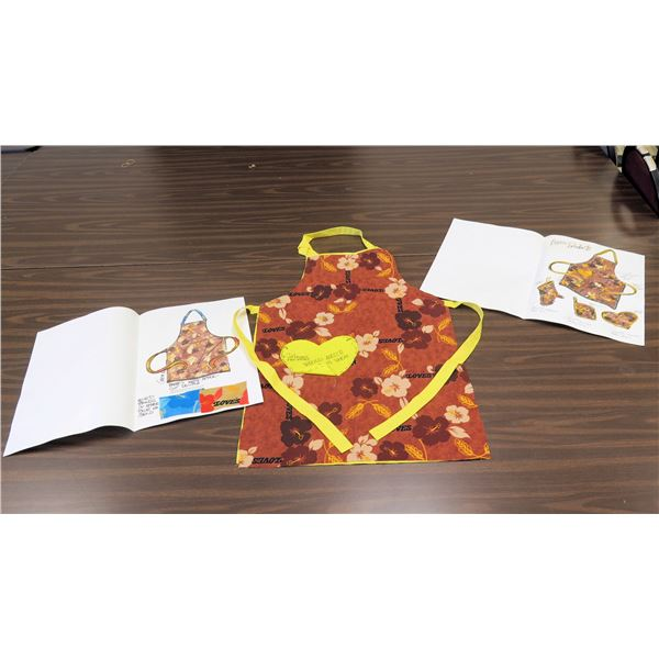 Love's Bakery Logo Work Apron Prototype & 2 Design Sheets for Logo Products