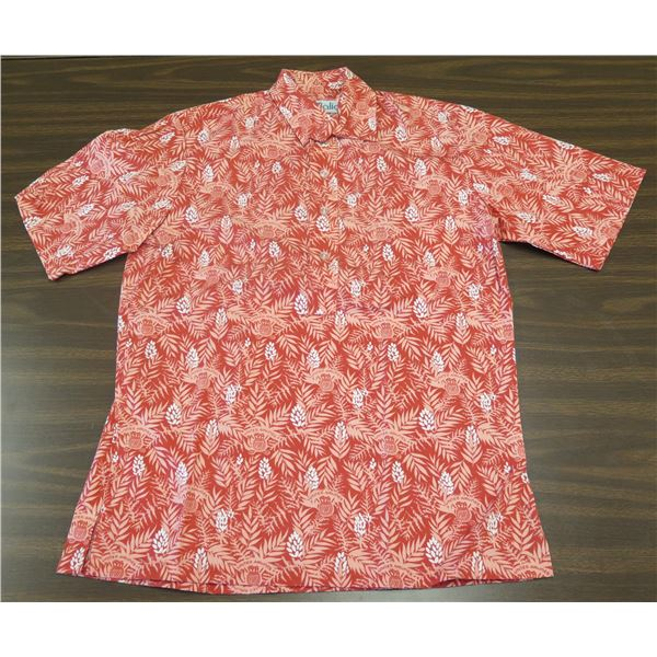 Vintage Red United Airlines/Love's Bakery Aloha Shirt, Uniform by Malia, Size Small
