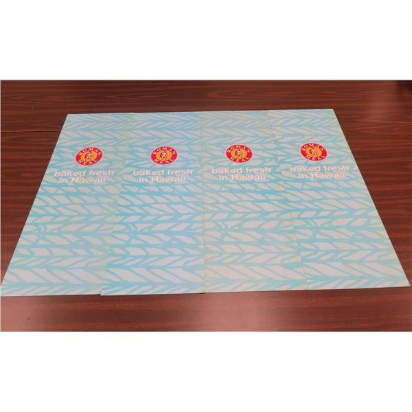 """Qty 4 Roman Meal Baked Fresh in Hawaii Banners 11""""x33"""""""