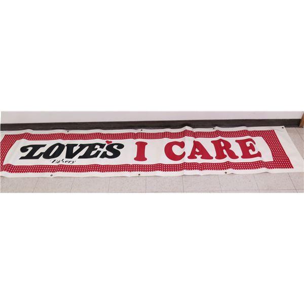 """Logo 'Love's Bakery I Care' Banner 117'x22"""""""
